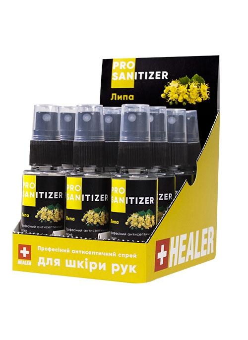 """Засіб дезінфекційний антисептичний """"HEALER® Sanitizer Pro"""" Липа <br>35 мл"""