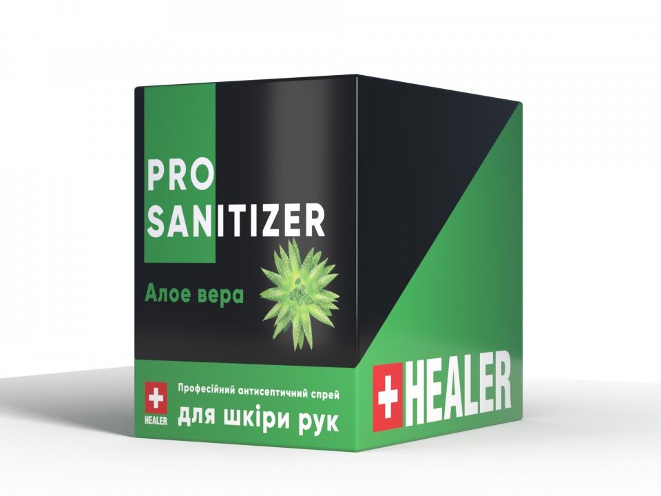"""Засіб дезінфекційний антисептичний """"HEALER®  Sanitizer Pro"""" Алое вера <br>35 мл"""