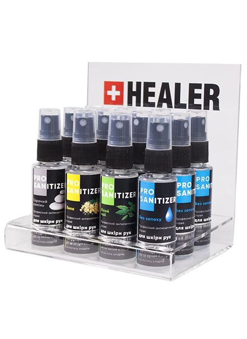 """Засіб дезінфекційний антисептичний """"HEALER®  Sanitizer Pro"""" Без запаху <br>35 мл"""